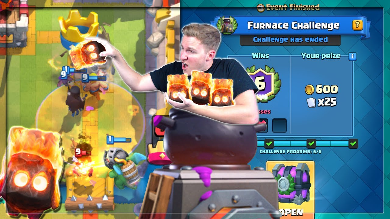 how to use furnace clash royale