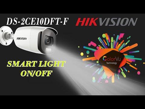 Hikvision colorvu smart light on / off DS-2CE10DFT-F 2mp full time color vision cctv camera
