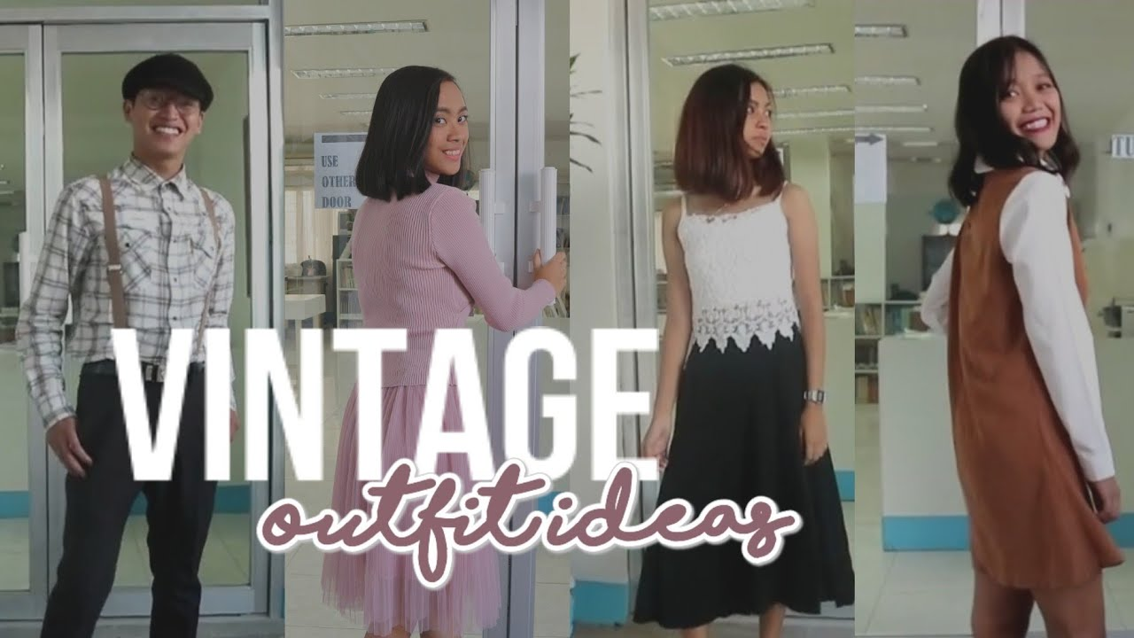 Vintage Outfit Ideas ft. my schoolmates | Philippines 1