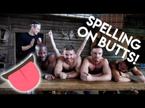 Butthole Spelling Bee With Gay Porn Stars