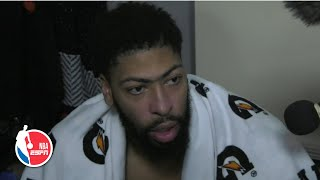 Anthony Davis on playing with the flu and his attention to defense   NBA Sound