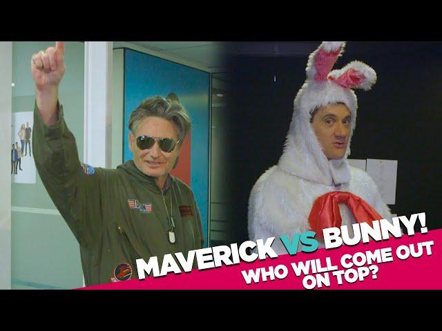 Top Gun's Maverick vs Man In Bunny Suit   Hughesy & Ed   Hit Virtual Trivia