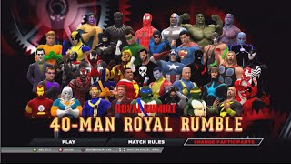 40 Man Comic Book Royal Rumble WWE2K15