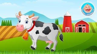 Трактор везет зверушек на Ферму - Угадываем по голосам Звуки животных - . Развивающее видео