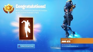 The New SENTINEL EMOTE in Fortnite.. (Tier 99 Jump Jets Emote)