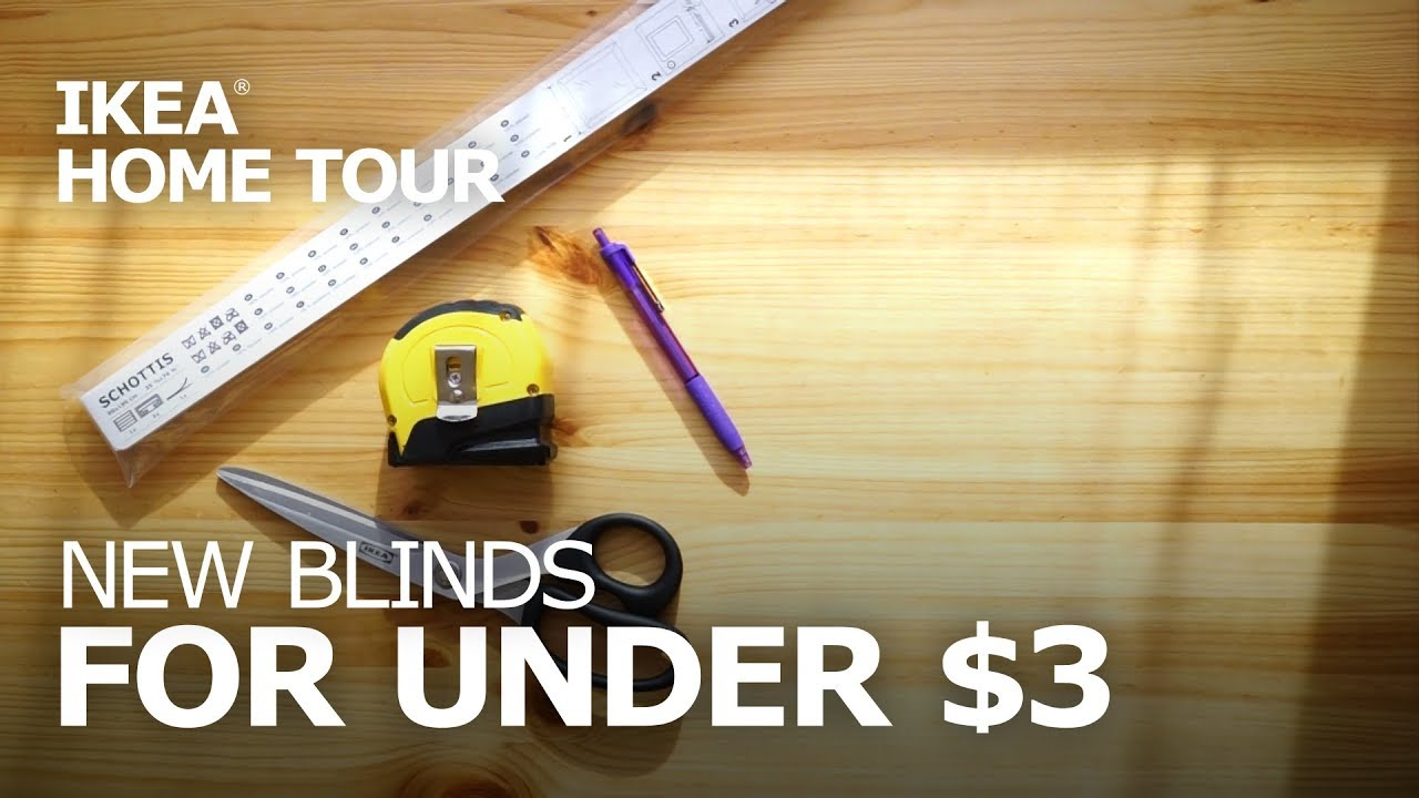 diy ikea schottis blinds installation - ikea home tour - youtube