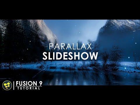 3D Parallax Slideshow in Fusion | BlackMagic Fusion 9 Tutorial