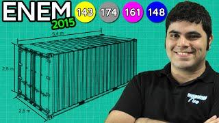 ENEM 2015 Matemática #13 - Empilhamento de Contêineres e Geometria