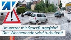 Unwetter am nächsten Wochenende! Schwül-warm mit Gewittern und Gefahr lokaler Sturzfluten!