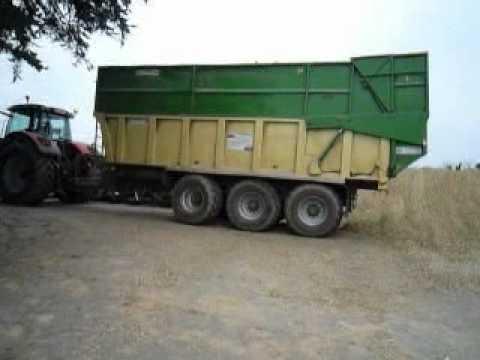 Remorque agricole grand volume porte engin gtb 2 4 gicquel t l 33 0 2 97 22 44 36 youtube - Remorque porte outil agricole ...