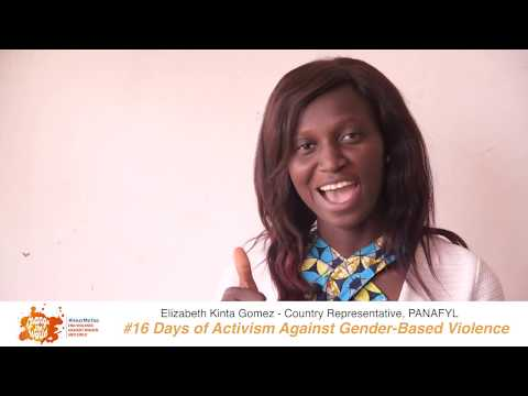 Elizabeth Kinta Gomez, Country Representative of PANAFYL, shares her message on 16 Days of Activism Against GBV 2018