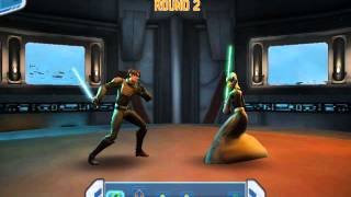 Star Wars: Clone Wars Adventures Lightsaber Duel - Luminara Unduli