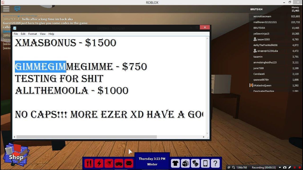 ROBLOX - RoCitizens - MONEY CODES!!! - YouTube