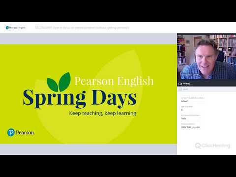 Pearson English Spring Days: how to focus on personalisation by Vaughan Jones