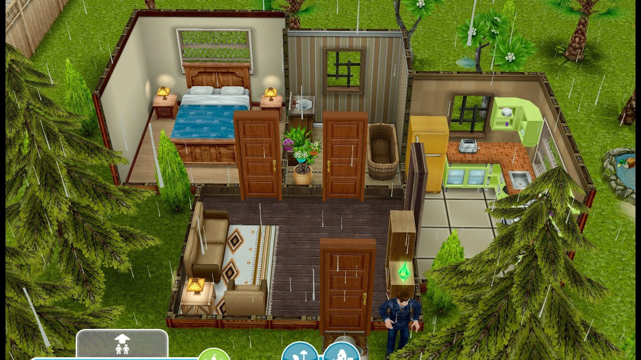 Sims Freeplay Original House Tour Jungle Cottage Youtube