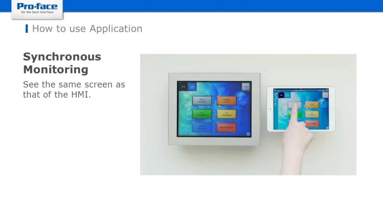 Remote Monitoring Software for mobile Pro-face Remote HMI