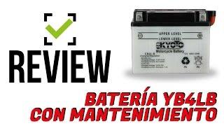 ¿Cómo instalar una batería de moto con mantenimiento y ácido? | KYOTO YB4L-B
