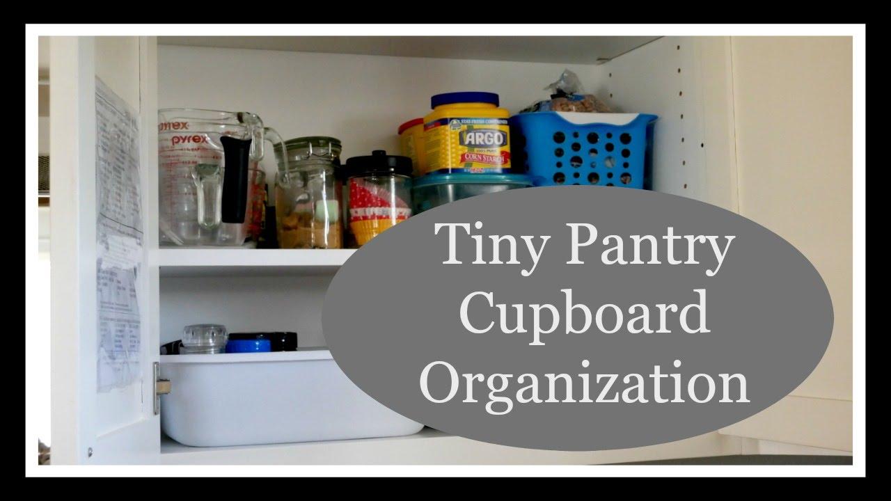 Tiny Pantry Cupboard Organization   YouTube
