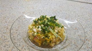 Салат с крабовых палочек