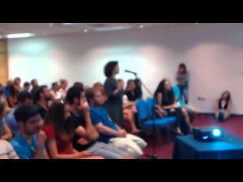Taglit-Birthright Israel group speaks with CEO Gidi Mark