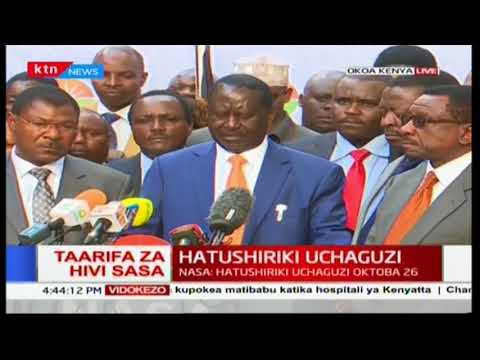 Presidential candidate Raila Odinga withdraws from October 26th 2017 elections