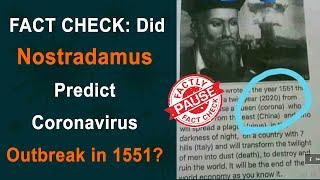 FACT CHECK: Did Nostradamus Predict Coronavirus Outbreak in 1551? || Factly