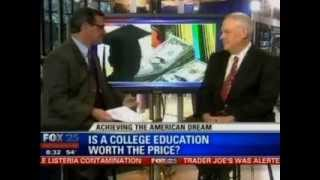 President Alexander Interviewed by Fox 25 on Value of College Education