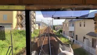 神戸電鉄5000系特快速新開地行き  岡場駅発車後・谷上駅到着前自動放送
