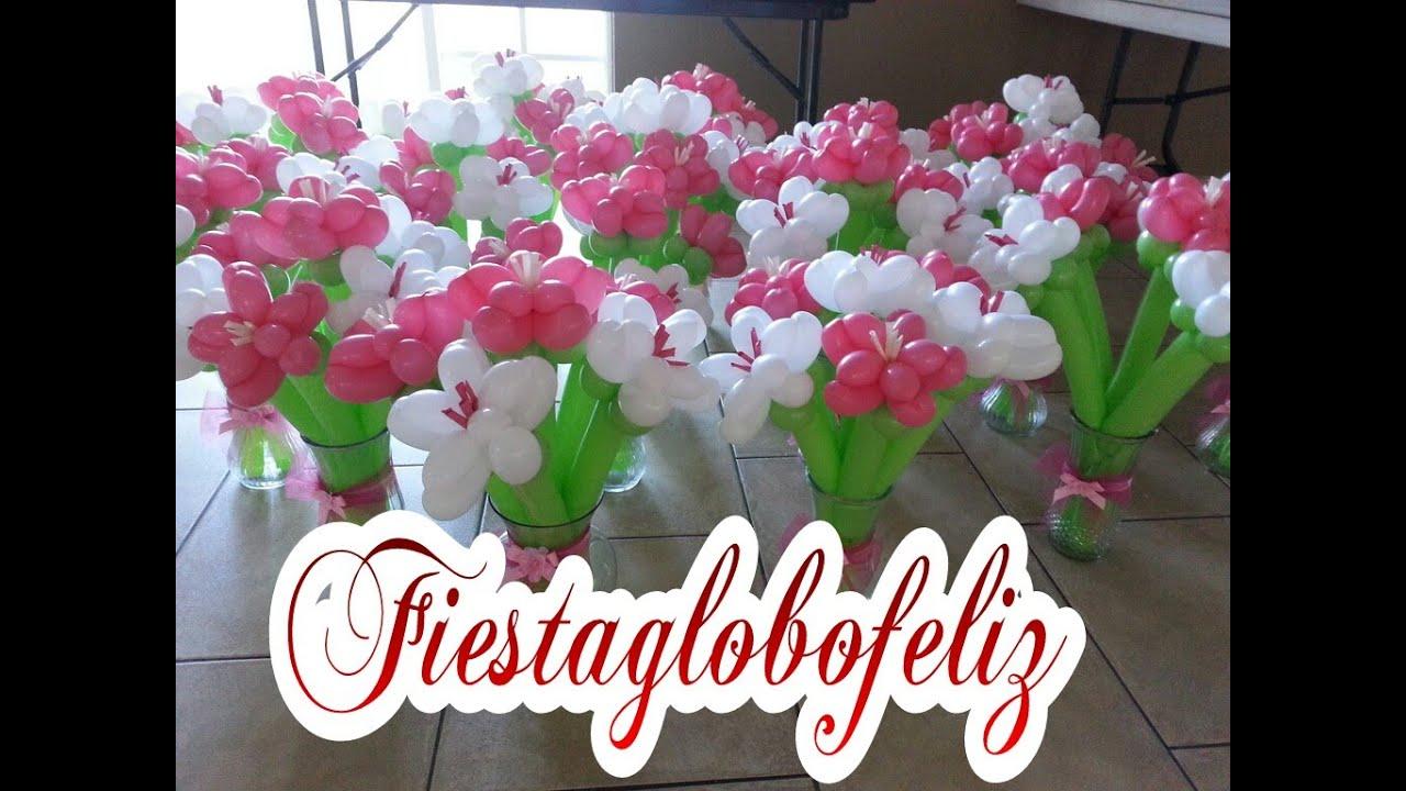 Globoflexia como hacer una columna de flores con globos - Hacer munecos con globos ...