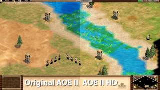 Age Of Empires 2 Original vs HD Split Screen Comparison 4K