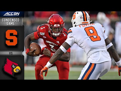 Syracuse Vs. Louisville Cardinals - Condensed Game | ACC Football 2019-20