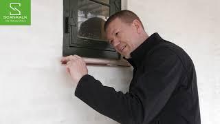 Murerfif til metal sålbænk under vinduer.