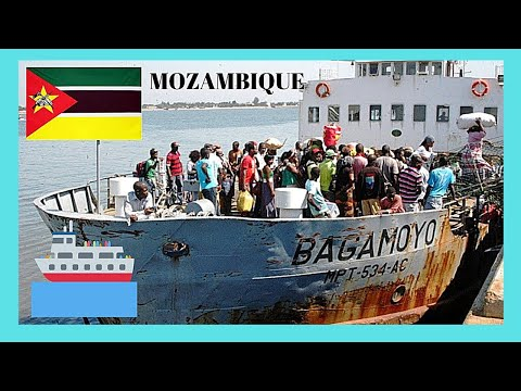 MOZAMBIQUE: Crossing MAPUTO BAY in rusty, old FERRYBOAT, adventurous ride