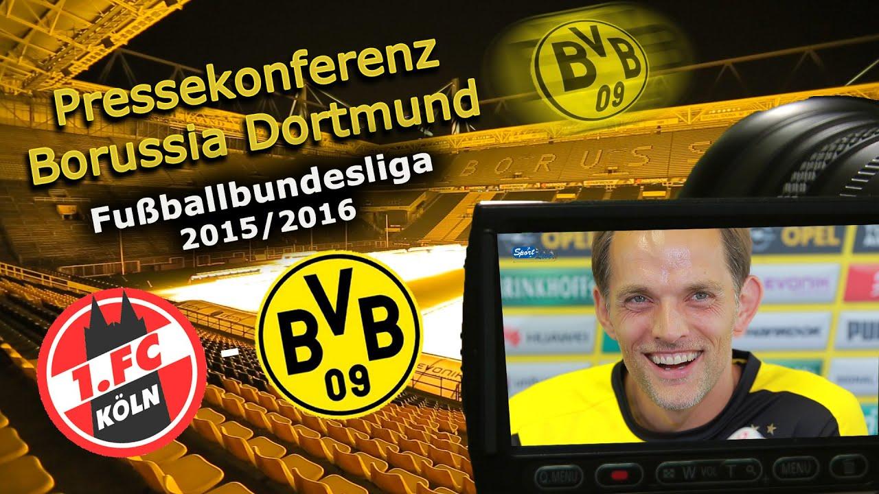 1. FC Köln - Borussia Dortmund: Pk mit Thomas Tuchel