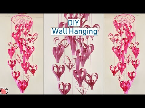 Paper Heart wall Hanging    DIY Home Decoration Idea    Handmade Things