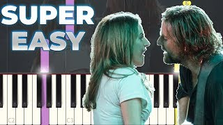 Lady Gaga And Bradley Cooper Shallow EASY Piano Tutorial Synthesia A Star Is Born.mp3