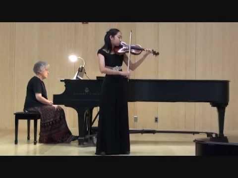 Alexandra Lee Plays Mozart Violin Concerto in D, 1st Mvt