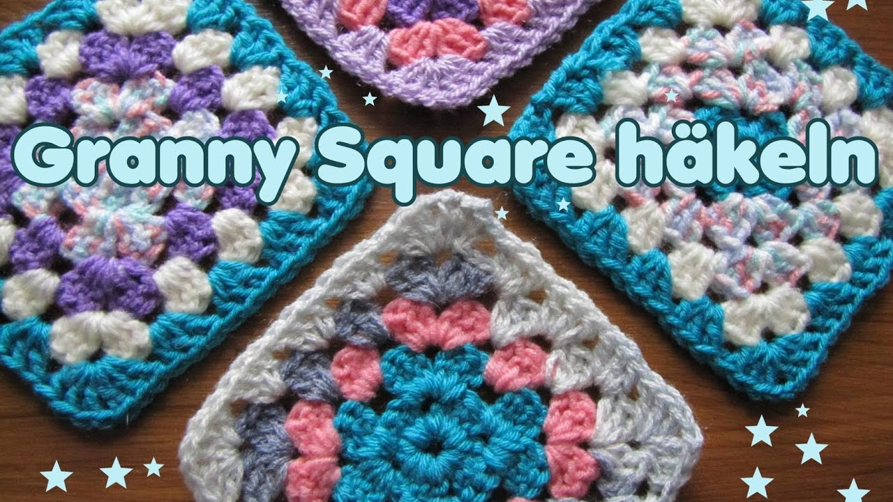 granny square klassisch mit farbwechsel h keln tutorial youtube. Black Bedroom Furniture Sets. Home Design Ideas