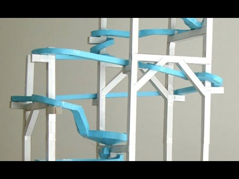 How To Make A Marble Rollercoaster Youtube
