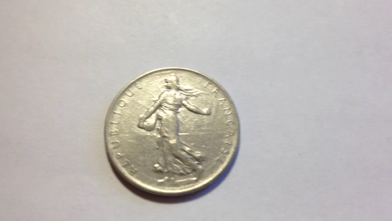 1 Franc Coin Dated 1960 Youtube