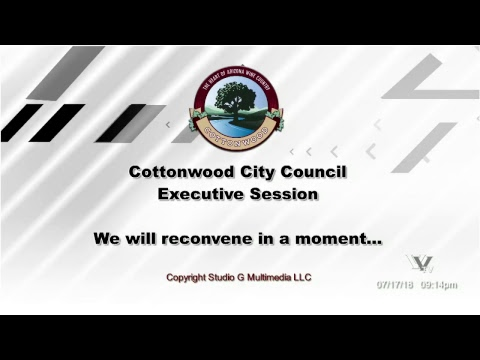 Cottonwood City Council Regular Meeting July 17 2018