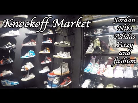 Shopping Guangzhou Knockoff Fashion, Sneakers Shoes Clothing Market. Hypebeast Heaven.