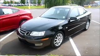2004 Saab 9-3 Linear 2.0T Start Up, Engine and Full Tour