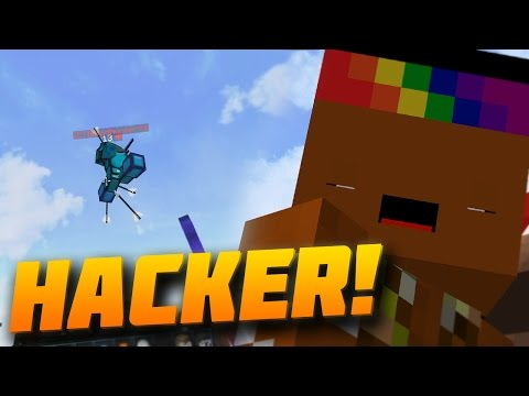 FLY HACKER AND 2 TRUMPS 2 TIMES!? Minecraft` MEGA SKYWARS! w