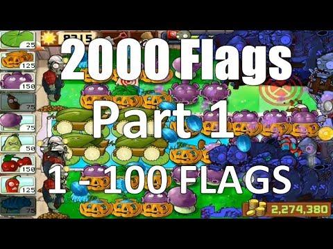 Plants Vs Zombies Survival Endless 1-100 Flags