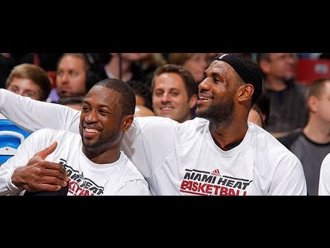 LeBron, Wade Mock Dirk Nowitzki Being Sick