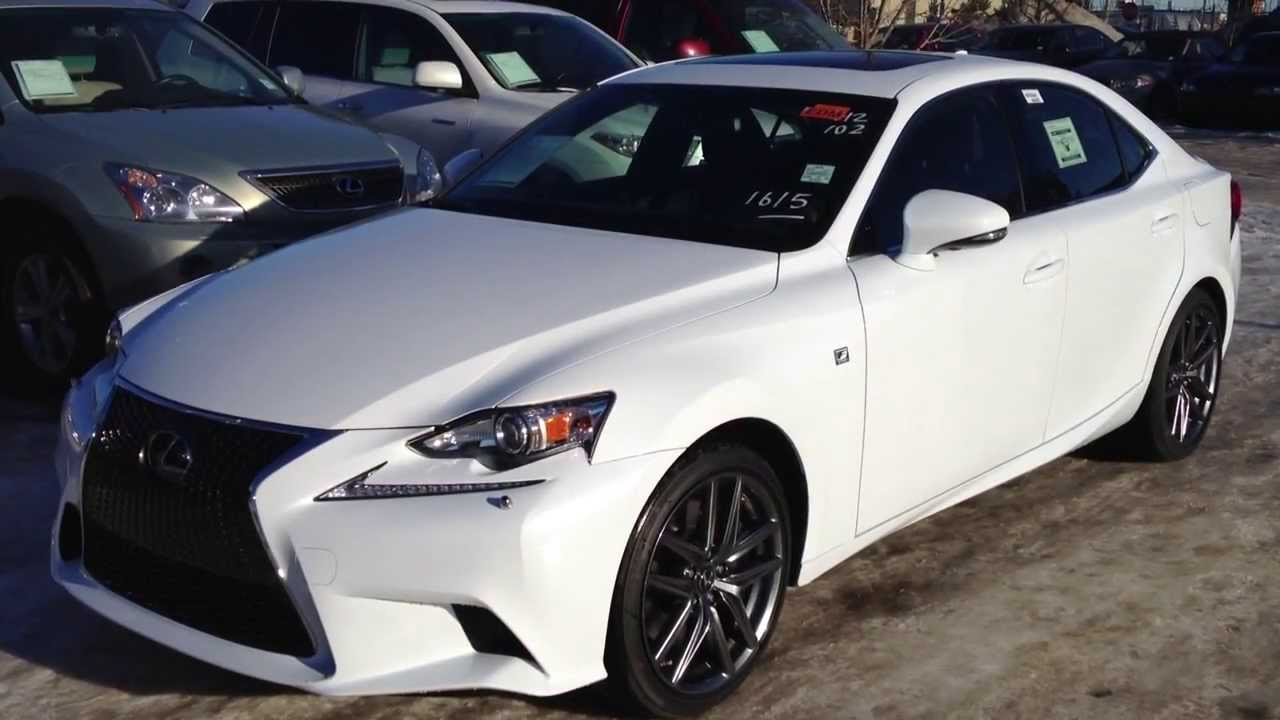 2014 lexus is 350 awd executive f sport package in ultra white youtube. Black Bedroom Furniture Sets. Home Design Ideas
