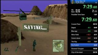 Army Men 3D Any% in 23:59.89 World Record