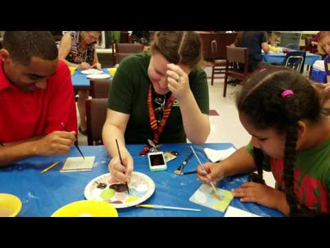 Temple Terrace elementary school making tiles to be placed on the outside of the school forever 2016