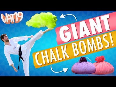 GIANT Chalk Bomb Battle! [feat. Dude Decent]